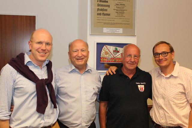 Foto: von links Torsten Anders, Hans-Jürgen Vogt, Hans-Georg Brügger und Thorsten Berg